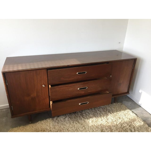 Final Markdown- Danish Mid-Century Modern Formica Credenza For Sale - Image 9 of 10
