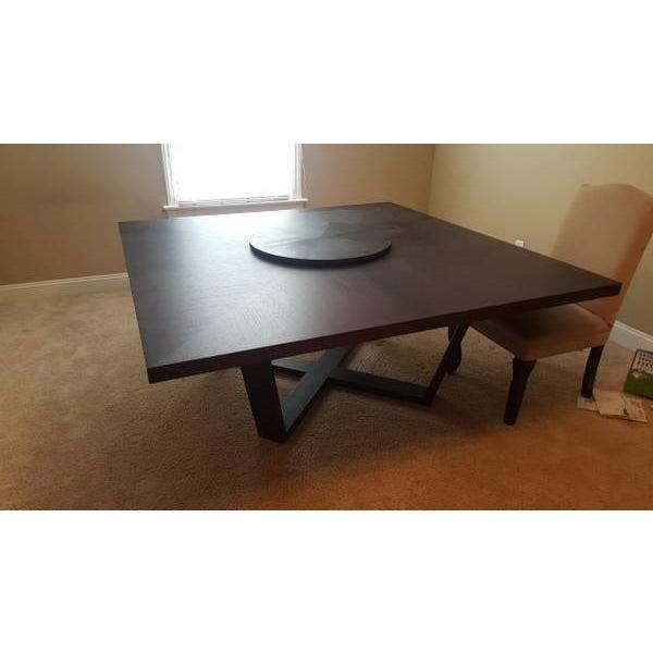 B & B Italia Black Oak Dining Table - Image 2 of 8