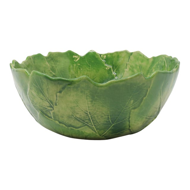 Vietri Foglia Stoneware Serving Bowl from Kenneth Ludwig Home For Sale