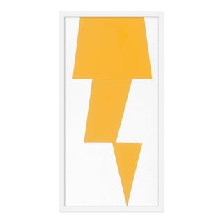 "Medium ""Yellow Jagged"" Print by Jason Trotter, 16"" X 31"" For Sale"
