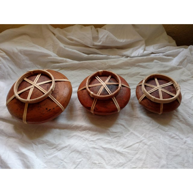 Anglo-Indian Sri Lankan Stacking Curry Serving Pots - Set of 3 For Sale - Image 3 of 7