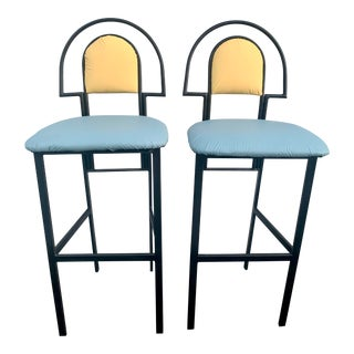Memphis Arch Barstools - a Pair For Sale