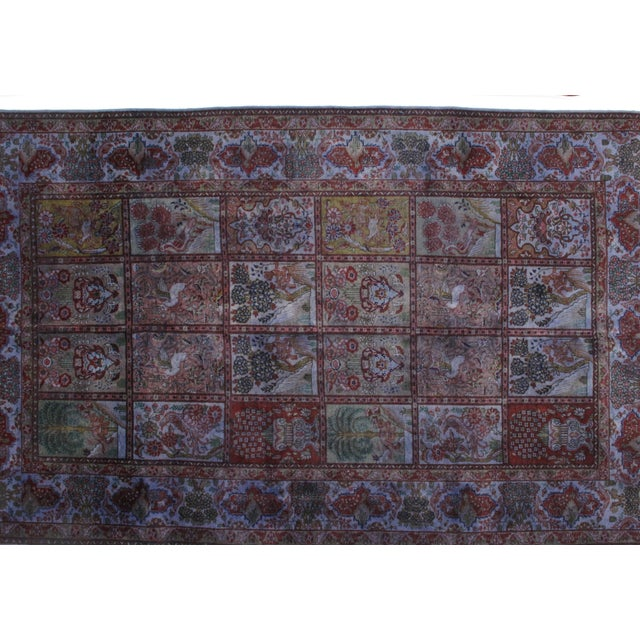 Offering this beautiful Over dye Persian Tabriz carpet with garden design. In excellent condition.