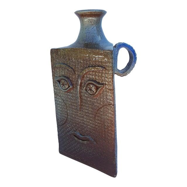 Vintage Art Handmade Sculptural Studio Pottery Vase For Sale