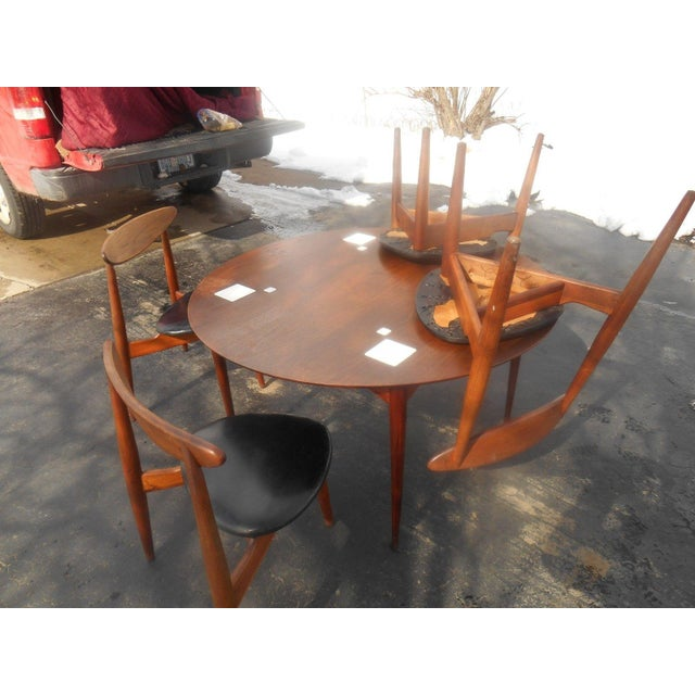 Hans Wegner Dining Set / Game Table For Sale - Image 10 of 10
