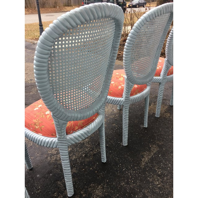 1970s 1970s Vintage Hollywood Regency Carved Rope Chairs - Set of 4 For Sale - Image 5 of 12