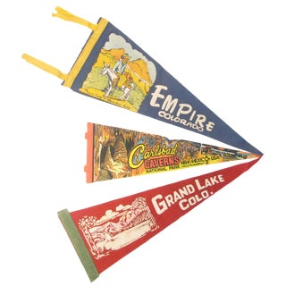 Southwestern Travel Pennants - S/3 For Sale