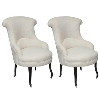 Late 19th Century Antique French Armchairs- A Pair For Sale