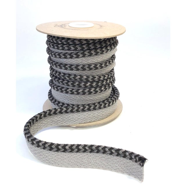 "Braided 1/4"" Indoor/Outdoor Cord in Charcoal & Gray For Sale - Image 10 of 10"