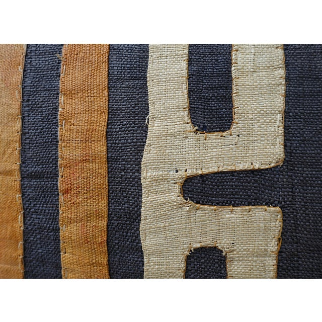 African Kuba Cloth Pillow For Sale In Los Angeles - Image 6 of 7