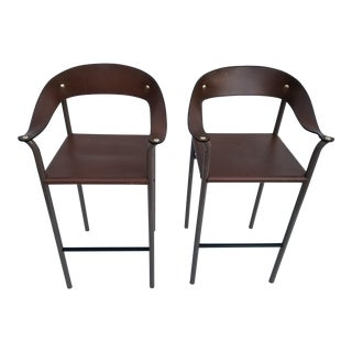 80's Italian Bar Stools - A Pair For Sale