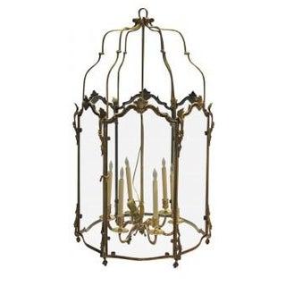 Large Louis XV Style Bronze Doré Lantern For Sale