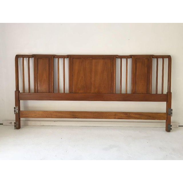 Brown Midcentury John Widdicomb Cherry King-Size Headboard For Sale - Image 8 of 8