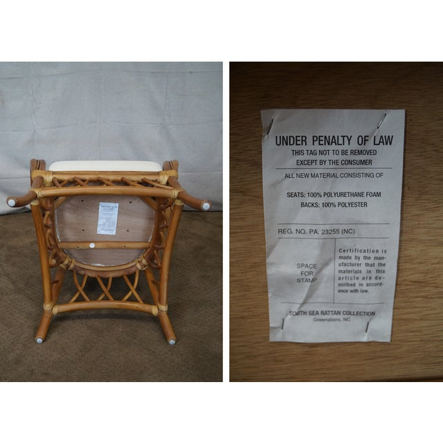 South Sea Rattan Collection Glass Top Dining Set For Sale In Philadelphia - Image 6 of 10