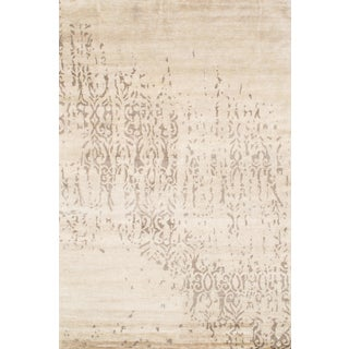 Pasargad NY Indo Modern Hand-Knotted Rug - 6′ × 9′ For Sale