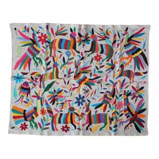 Multicolor Tenango Textile II For Sale