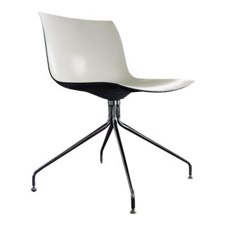 Modern White Italian Swivel Chair For Sale