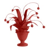 Image of Stray Dog Designs for Chairish Crunchberry Faux Plant, Deep Red For Sale