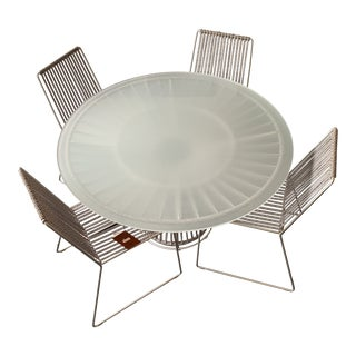Modern Missoni Home Cordula Garden Table and Chairs- 5 Pieces For Sale