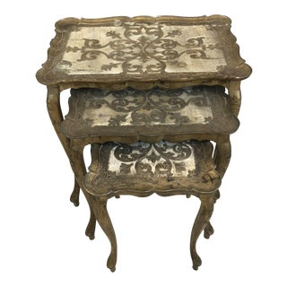 Italian Florentine Nesting Tables - Set of 3