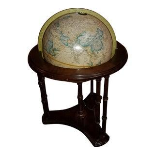 1970s Replogle Heirloom Lighted Floor Stand Globe For Sale