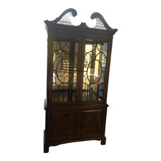 Henredon Tall Display Cabinet For Sale