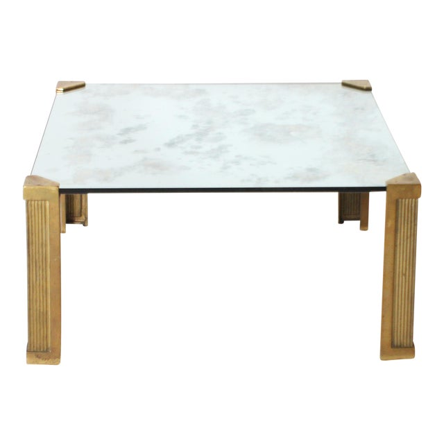 Peter Ghyczy Coffee Table With Smoked Glass Top C. 1970 For Sale