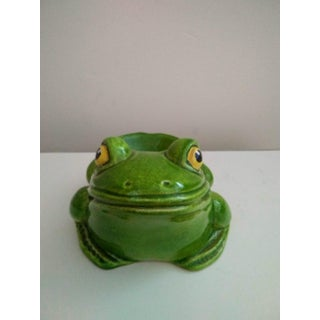 Vintage Italian Terra-Cotta Frog Catchall Preview
