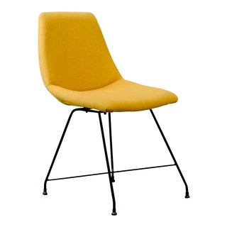 Mid-Century Italian Design Yellow 'Aster' Side Chair by Augusto Bozzi for Saporiti, 1956 For Sale