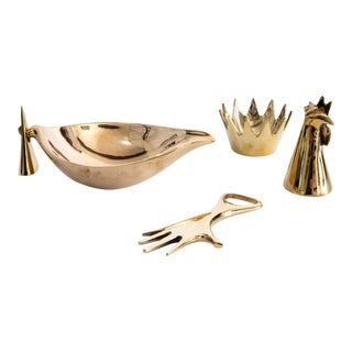 Carl Auböck Brass Objects - Set of 4 For Sale