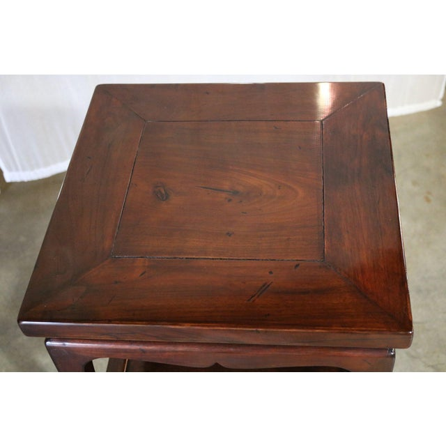 Early 19th Century Chinese Walnut Tea Tables - a Pair For Sale - Image 5 of 6