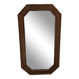 Palm Beach Bamboo Mirror For Sale
