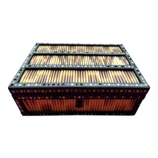 Anglo Indian Antique Porcupine Quill Box
