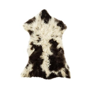 "Contemporary Natural Wool Sheepskin Pelt -2'2""x3'1"" For Sale"
