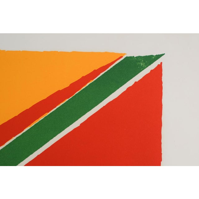 """Abstract Vintage Mid-Century """"Untitled"""" Piero Dorazio Signed Serigraph Print For Sale - Image 3 of 10"""