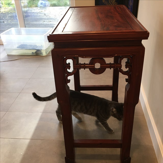 Carved Chinese Rosewood Alter Table For Sale - Image 10 of 11