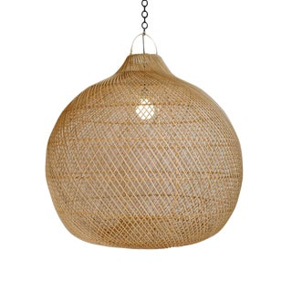 Rattan Donut Globe Lantern Medium For Sale