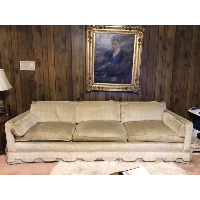 Hollywood Regency 1960's Vintage Henredon Hollywood Regency Sofa For Sale - Image 3 of 3