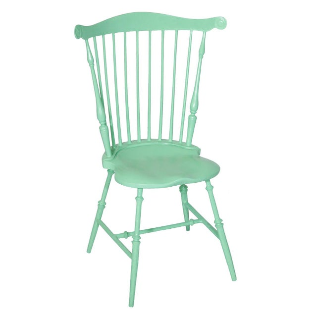 American Fanback Outdoor Chair in Willow For Sale - Image 3 of 3