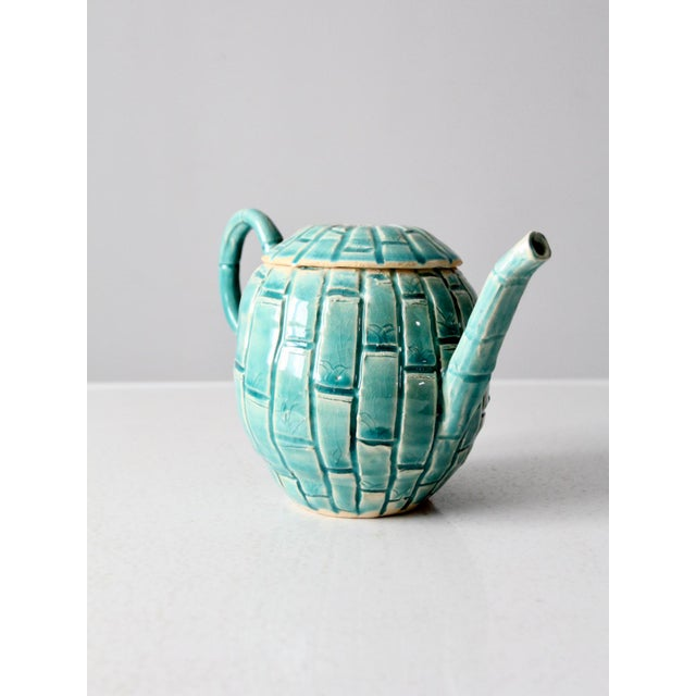 This is a vintage hand crafted ceramic teapot circa 1970s. The studio pottery tea or coffee server has a beautiful...