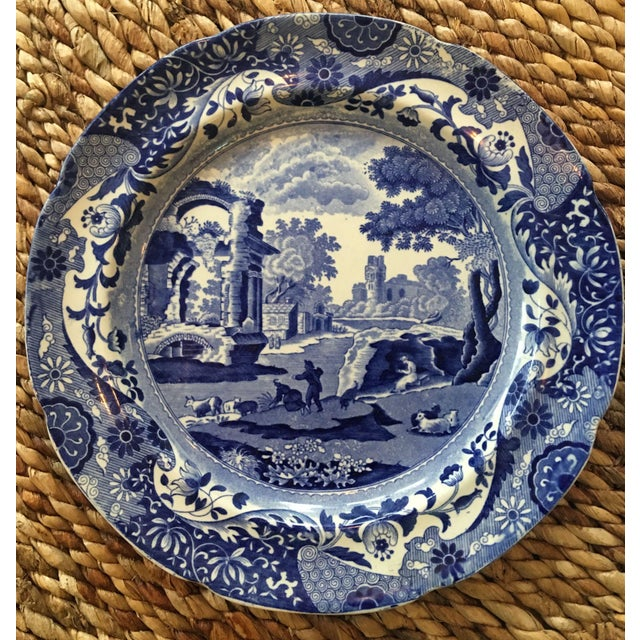 Antique Spode Italian Blue & White Transferware Plates - A Pair - Image 3 of 8