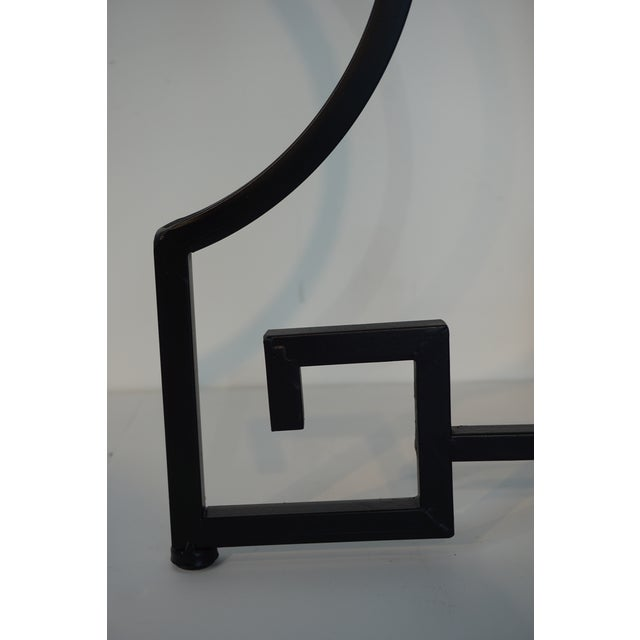 Black Neoclassical Wrought Iron Guerdon in the Style of Salterini For Sale - Image 8 of 10
