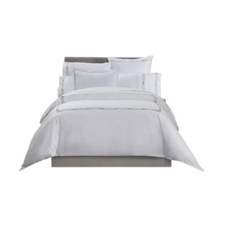 Saint-Tropez Embroidered Duvet Cover King - Slate/Platinum For Sale