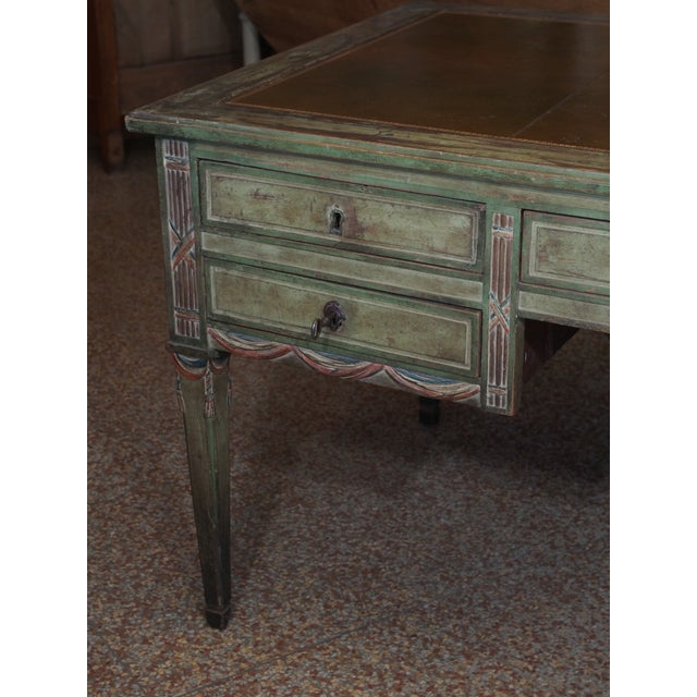 """French Revolution"" Polychrome Desk For Sale - Image 9 of 9"