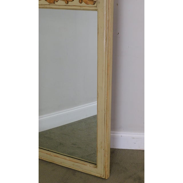 Woodland Furniture French Country Style Painted Wall Mirror For Sale - Image 10 of 12
