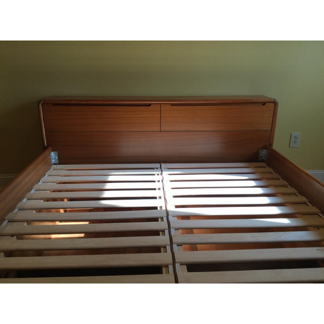 Teak Queen Bed Frame - Image 10 of 11