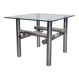 Mid-Century Modern Sculptural Chrome End Table For Sale