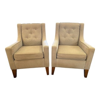 Mitchell Gold & Bob Williams Cara Arm Chairs - a Pair For Sale