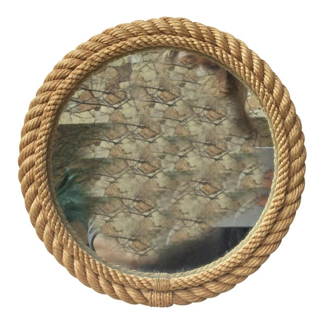 1960s Vintage Audoux Minet Round Rope Mirror For Sale In Austin - Image 6 of 6