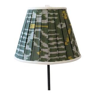 Uzbekistan Green Ikat Lamp Shade For Sale